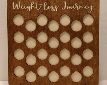 Personalised Weight loss Journey saving chart 1 pound for 1LB