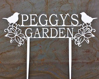 Custom Metal Garden Stakes | Custom Garden Sign | Garden Art | Gift For Mom | Gift For Grandma