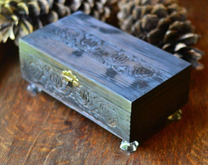 TAROT CARD STORAGE, card storage, tarot card storage, oracle deck, wood box, hinged wood box, box with lid