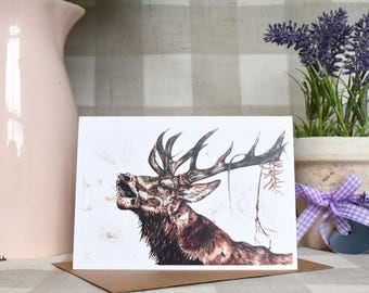 Stags breath greeting card