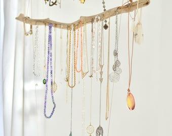 driftwood branch jewelry display organizer