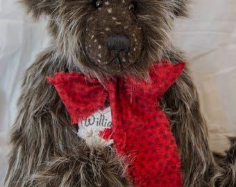 """William Bear 22"""" Faux Fur Artist Teddy Bear by Patricia Bruce"""