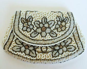 Gatsby, Deco, French Clutch Purse Handbag evening Wedding bag, Flapper, 1920-1930, Hand beaded Purse