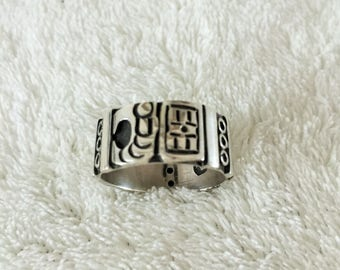 Unisex Ring 925 Silver, Wide, Heavy, Band,  Made In Mexico, Man's or Woman's Size - 10 3/4