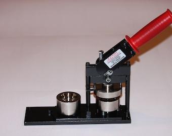 "1.25"" Round Paper Button Press - Round Button Maker - Paper Button Machine by Tecre #125 1.25"" 1 1/4 Paper Button Press Machine Maker"