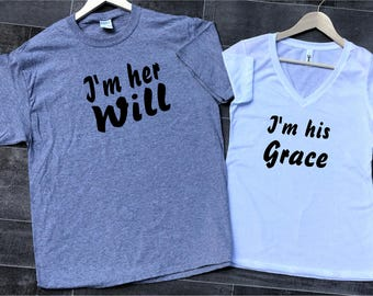 Will and Grace Shirt, I'm Her Will Shirt, I'm His Grace Shirt, Will and Grace, Will and Grace TV Show