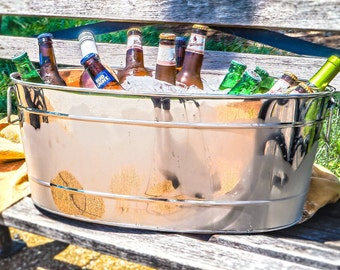 Personalized Stainless Steel Party Beverage Tub for Wedding Gift, Housewarming, Birthday, Anniversary, Shower, Valentines day
