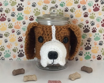 Regal Beagle - Dog Treat Jar - Beagle Owners - Beagle Christmas - I Love Beagles - Best Dog Ever - Fur Baby - Dog Mama - Beagle Rescue