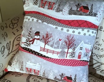 Decorative Pillow Cover, Envelope Style Pillow Cover, Christmas Pillow Cover