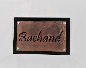 Customized Metal Name Sign, Black Rustic Custom Sign, Custom Name Sign, Outdoor Name Sign, Custom Outdoor Sign, Custom Wedding