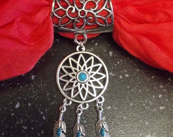 Scarf ring With Dreamcatcher charm