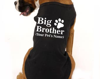 Big Brother announcement shirt, big brother shirt, dog sweater, dog shirt, pregnancy announcement shirt, pregnancy reveal to grandparents