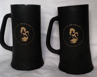 Two Vintage Playboy Glass Mugs