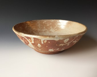 Wood fired stoneware bowl