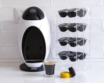 Dolce Gusto Carousel Coffee Pod Holder, Coffee Organizer, Rotate Storage Unit, Clear Kitchen Organize, Minimal Design, Kitchen Decor Gift