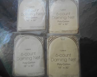 "6 Count Darning Net, 18"" x 30"", White/Natural, Set of 4, Free Shipping"