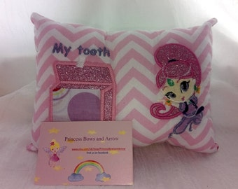Tooth fairy pillow Shimmer and Shine inspired
