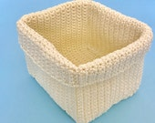 Square Crochet Basket Pattern, DIY basket pattern, Crochet storage basket, DIY crochet basket, Crochet bowl, Crocheted basket pattern