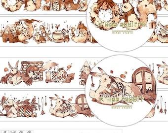 2017 Dec. 35mm x 10m Washi tape Masking Tape / Rabbit / Squirrel