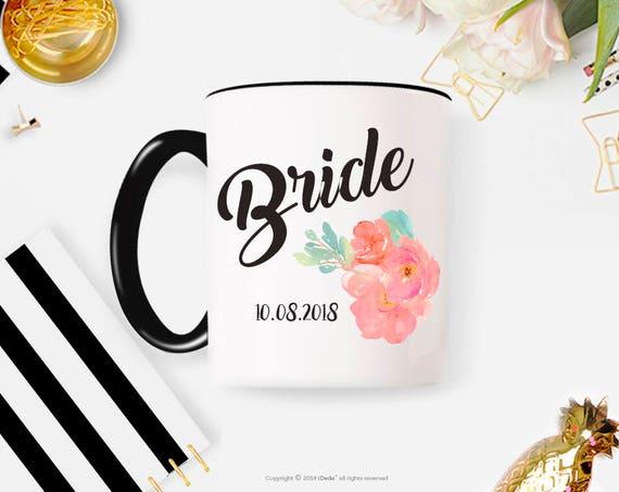 Bride gift / bride coffee mug / Bridal shower gift / wedding coffee mug / bridal party cups / bridal party coffee mugs engagement gift 229O