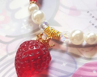 Strawberry Princess Bracelet - Sweet Lolita Milky Berry Accessory
