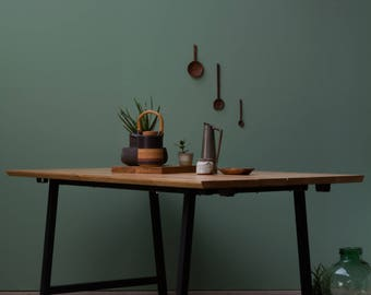 Industrial A Frame Dining Table - Rustic, Oak, Extendable