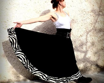 "Flared long skirt ""Kaliss"" Zebra size 38"