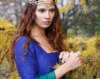 Fairy Elven crown - Silver Bridal Diadem - Celtic Circlet - Headdress Circlet - Jewelry Diadem - Elven Bridal Tiara – Tolkien lotr - Megven