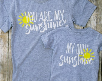You Are My Sunshine Shirts | Mother's Day Gift | Mommy and Me Shirts | Mommy Son Shirts | Mommy Daughter Shirts | Baby Shower Gift