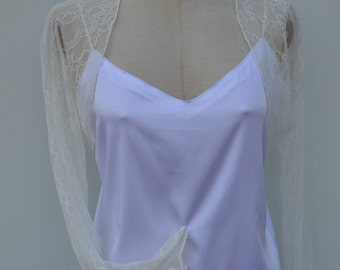 Bolero lace, ivory lace Cardigan, bolero sleeve raglan ivory wedding, bolero long sleeve ivory lace wedding, lace
