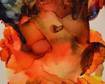 Fire: Abstract Alcohol Ink Art