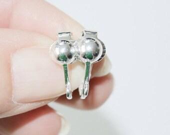 Supports boucles d'oreilles clips métal argenté (vendus par paire)