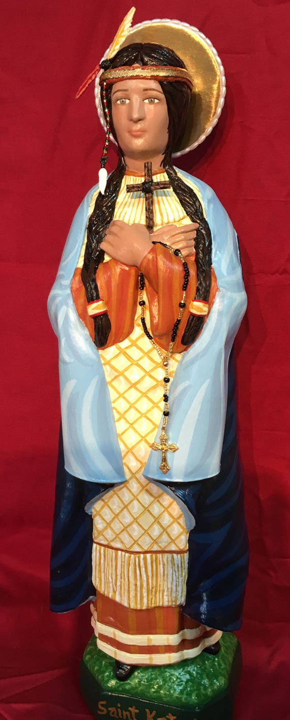 "St. Kateri Tekakwitha 19"" Catholic Christain Statue"
