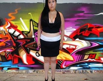 Eco-Friendly // Black and White Dress Set // One of a Kind // Plus Size 18 3X