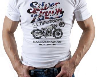 Silver Hawk. White T-shirt