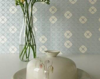 Vintage Butter Dish by Royal KPM Germany Krister Porcelain Pastel Floral Design 17114