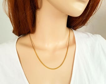 22 inch 18ct gold filled Cuban Curb Chain Necklace ( 2.5mm width )
