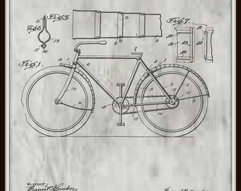 Bicycle Mud Guard Patent #1,226,323 dated May 15, 1917.