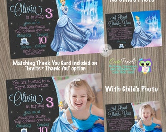 Cinderella Birthday Invitation, Cinderella Birthday, Cinderella Invitation, Disney Princess Invitation, Princess birthday invitation