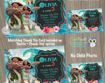 Moana Invitation, Moana Birthday Invitation, Moana Birthday, Disney Moana Birthday Decor, Moana Party, Hawaiian Party