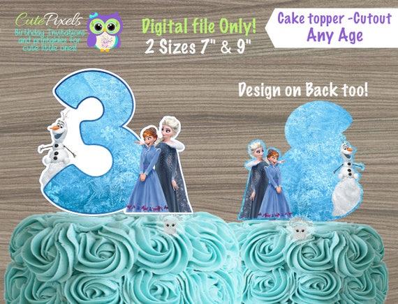 Frozen Cake Topper Frozen Centerpiece Disney Frozen Birthday