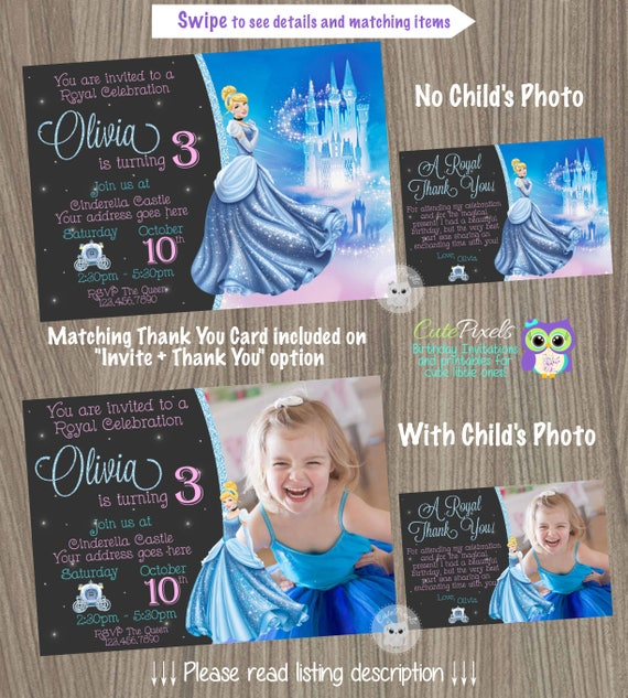 cinderella birthday invitation cinderella birthday cinderella