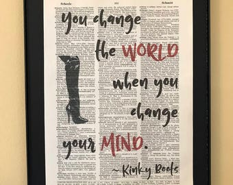 You change the world when you change your mind; Kinky Boots; Musical Thatre; Opening Night