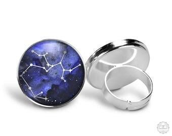 Sagittarius Constellation Ring | Sagittarius Ring Constellation Jewelry Galaxy Ring Zodiac Ring Star Astrology Adjustable Ring