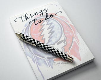 Grateful Dead Decor, Notepad, Steal Your Face Art, Deadhead Gift, Steal Your Face, Deadhead, The Grateful Dead, Grateful Dead Art, The Dead