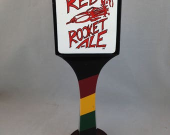 Tap Handle for Bear Republic Ricardo's Red Rocket Ale 2 Sided 9 1/2 Inches Tall     01429