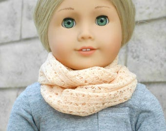 Peach Lace Infinity Scarf for American Girl Dolls