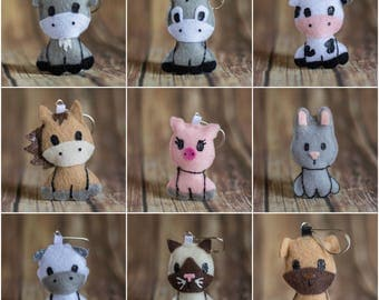 Felt Animal Keychains