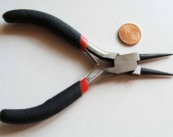 1 Pince 12cm Bouts Ronds non striés pour formation anneaux / prise mini outil loisirs création montage bijoux
