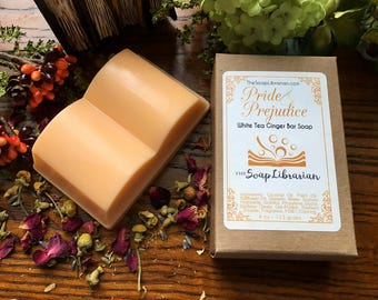 Pride and Prejudice Bar Soap - Book Gift, Library Gift, Jane Austen Book - Natural Bar Soap